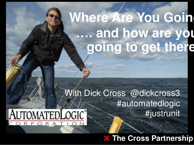 Where Are You Going…. and how are yougoing to get thereWith Dick Cross @dickcross3#automatedlogic#justrunitx The Cross Par...
