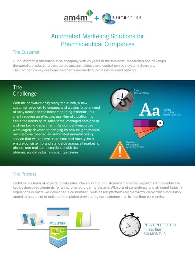 Automated marketing solutions for pharmaceutical companies