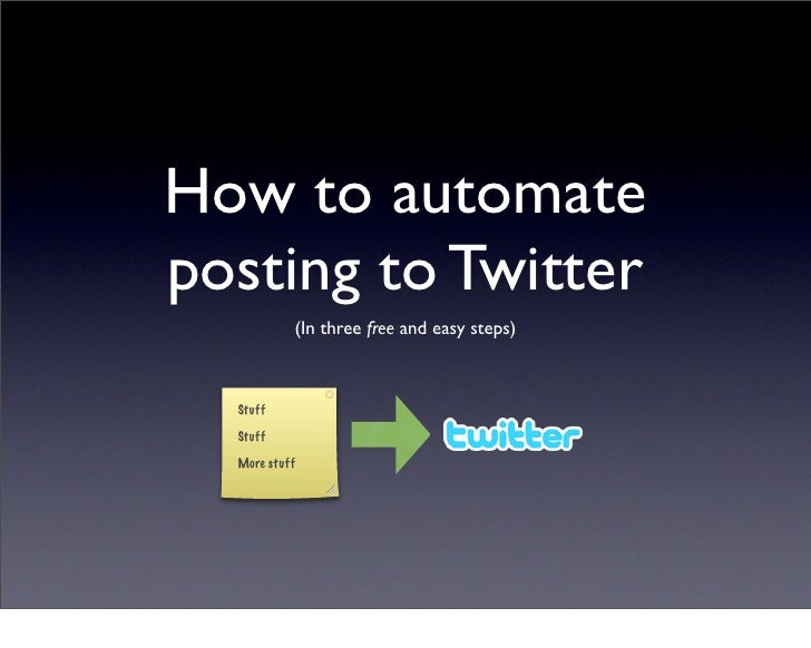 Automated Posting To Twitter