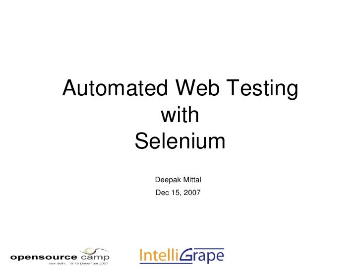 Automated Web Testing With Selenium