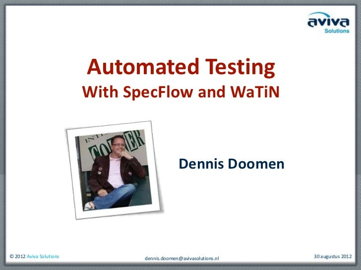 Automated ui testing with Specflow and WaTiN