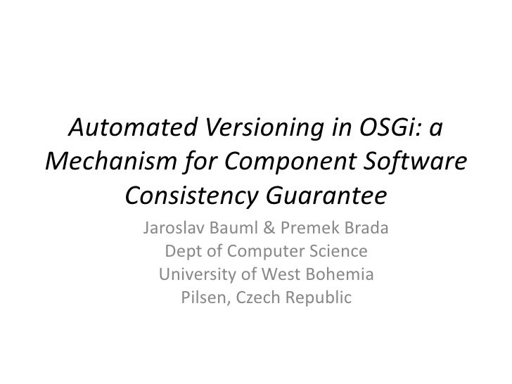 Automated Versioning In OSGi