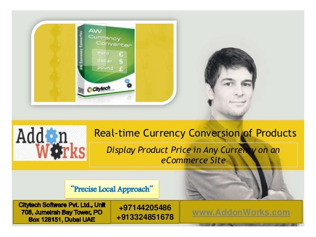 """LOGO AREA  Real-time Currency Conversion of Products Display Product Price in Any Currency on an eCommerce Site """"Precise L..."""