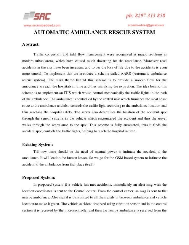 Automatic ambulance rescue system