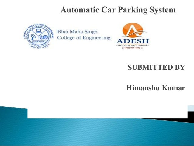Automatic car parking system by Himanshu