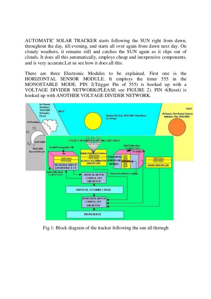 AUTOMATIC SOLAR TRACKER starts following the SUN right from dawn,throughout the day, till evening, and starts all over aga...