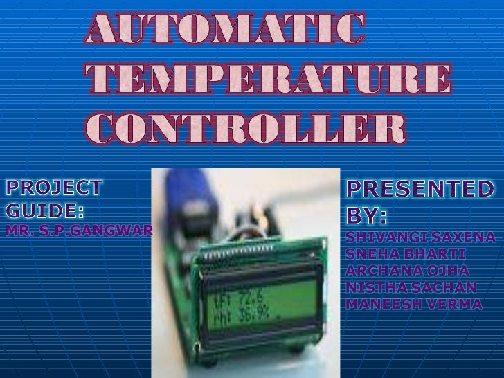 Automatic temp controller