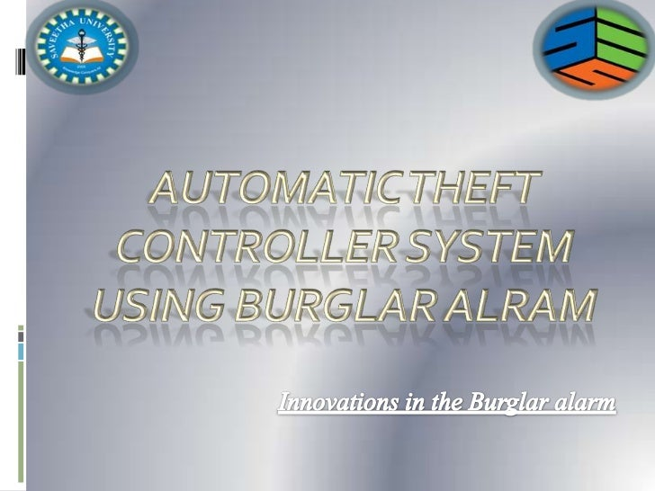 INTRODUCTION:Burglar alarm is the one of thesecurity system which is use toprevent our home, office, banks, etc.In our pro...