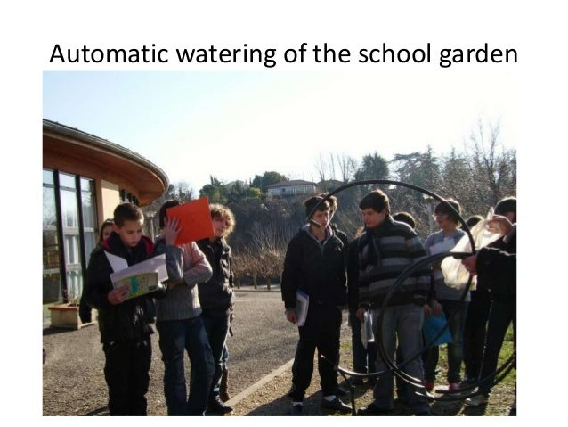 Automatic watering of the school garden