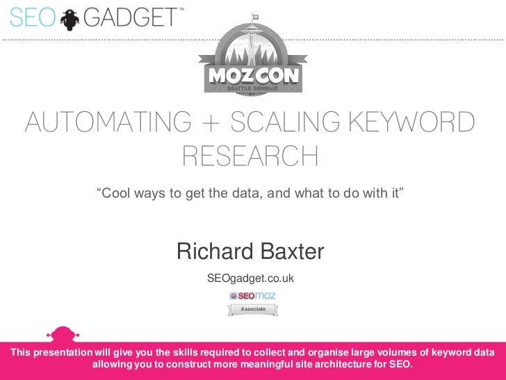 Automating and Scaling Keyword Research