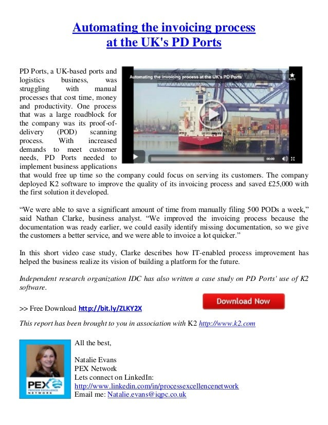 Automating the invoicing process at the uk's pd ports 4 29-2013