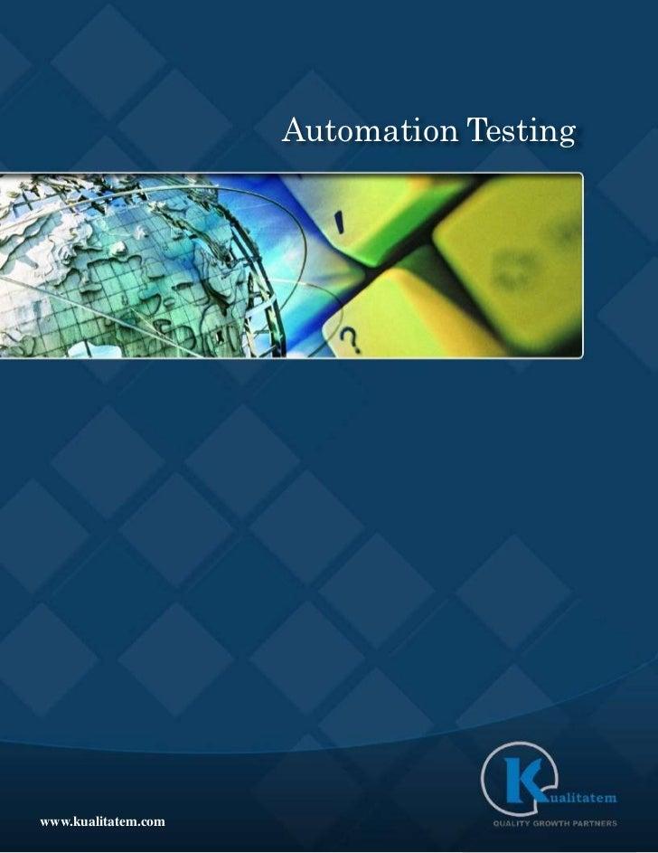 Automation Testingwww.kualitatem.com