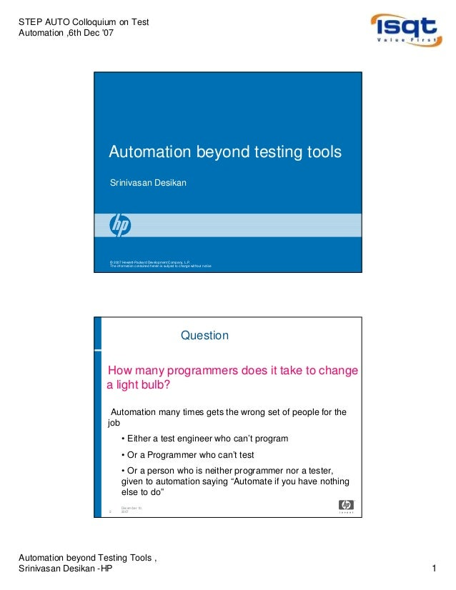 Automation beyond testing tools