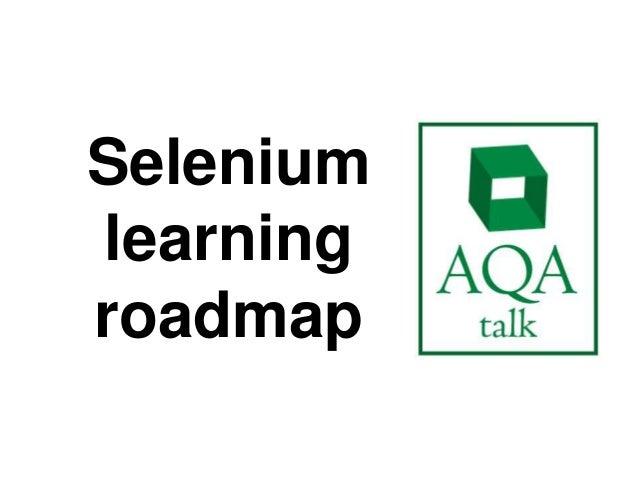 Seleniumlearningroadmap