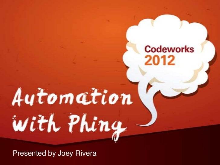 Automation with phing