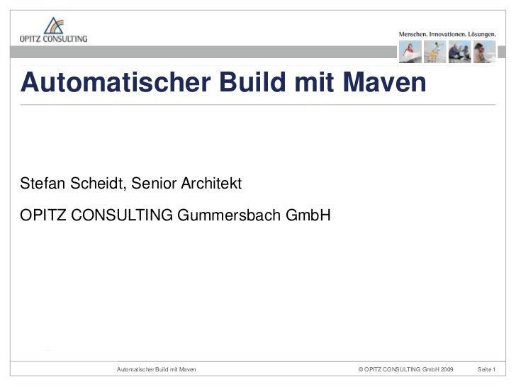 Automatischer Build mit Maven