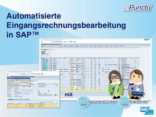 Automatisierte Eingangsrechnungsbearbeitung in SAP™  mit