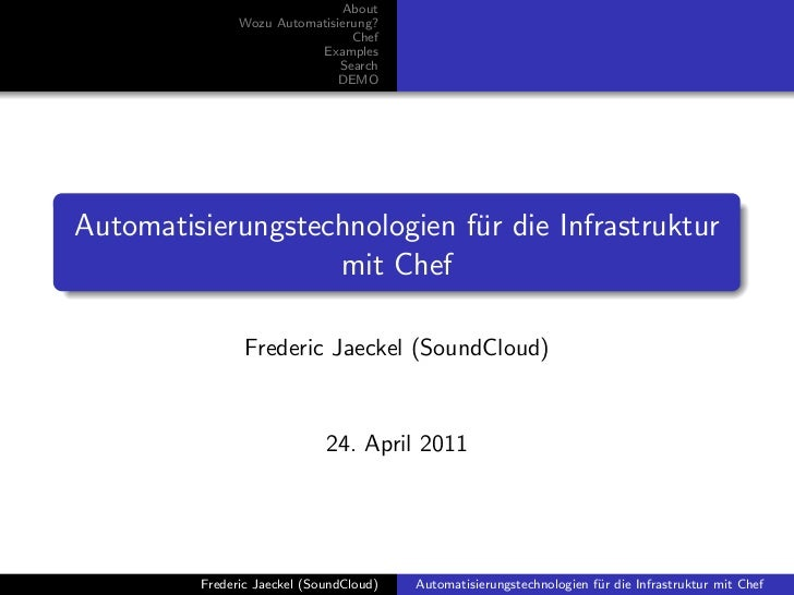 About               Wozu Automatisierung?                                Chef                          Examples           ...