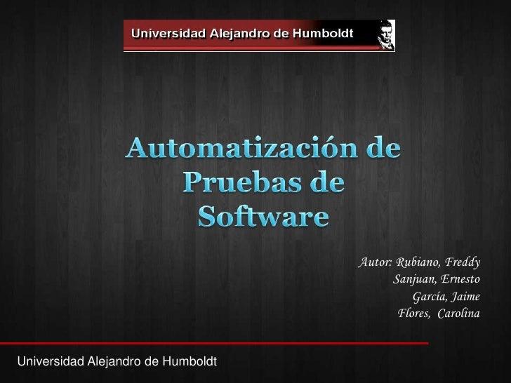 Automatizacion De Pruebas De Software