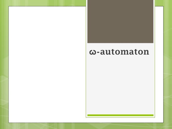 ω-automaton<br />