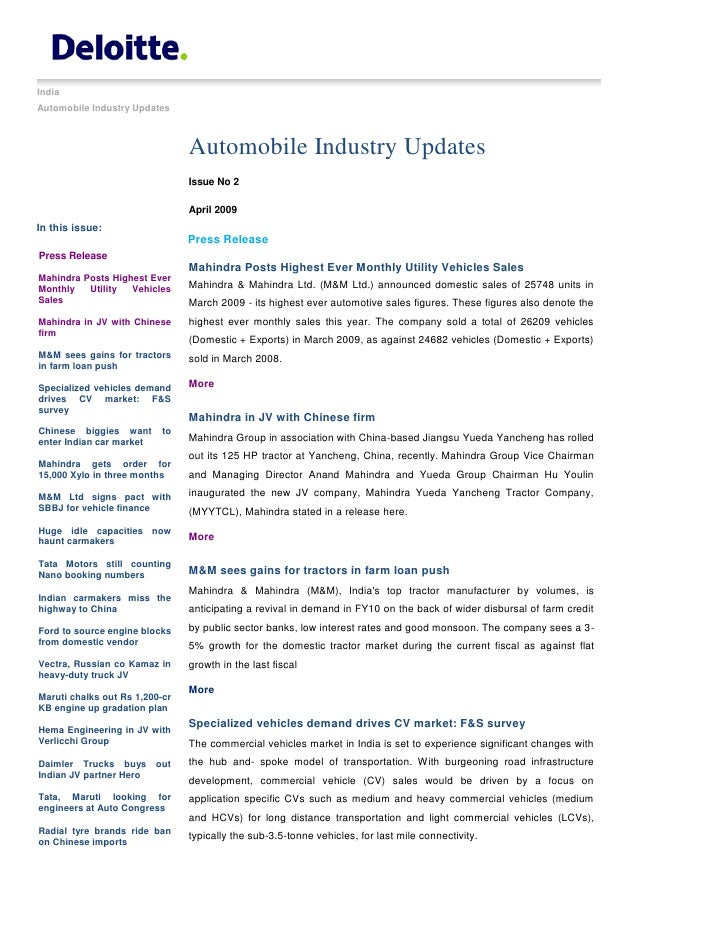 Automobile%20 Industry%20 Updates%20 %20 April%202009