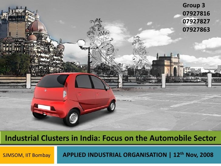 Industrial Clusters in India (Auto Sector)