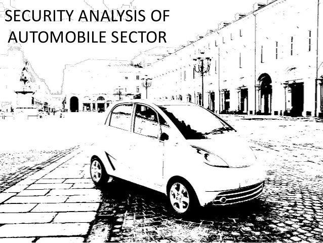 SECURITY ANALYSIS OFAUTOMOBILE SECTOR