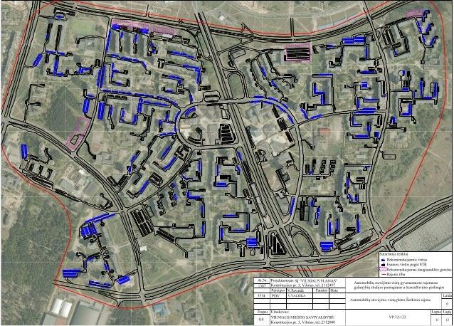 Automobilių statymas Vilniaus mieste Šeškinės rajone