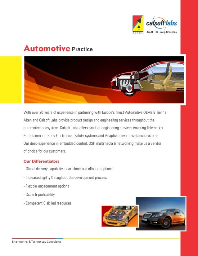 Automotive Practice        With over 20 years of experience in partnering with Europes finest Automotive OEMs & Tier 1s,  ...
