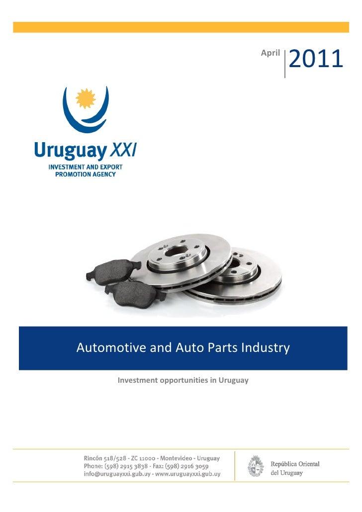 Automotive and-auto-parts-industry-uruguay-xxi-apr-2011 final
