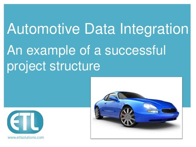 Automotive Data IntegrationAn example of a successfulproject structurewww.etlsolutions.com