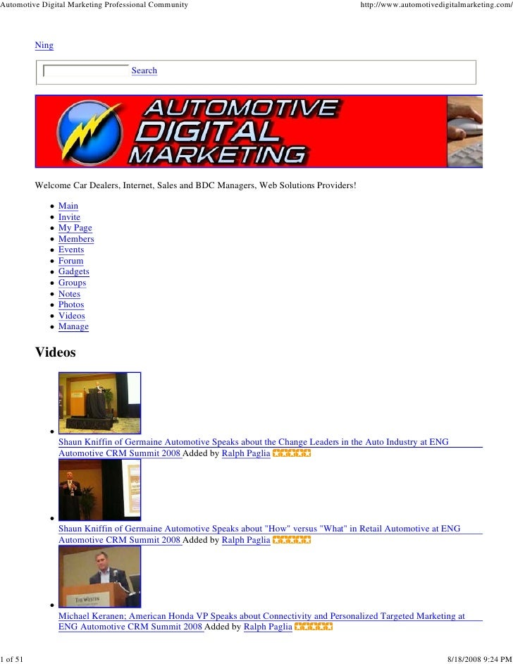 Automotive Digital Marketing Professional Community