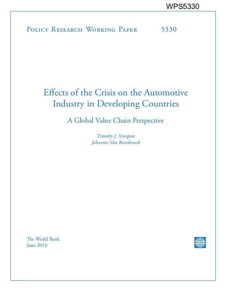 Automotive industry and crisis (sturgeon   jun 2010)