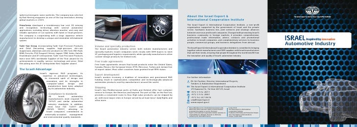 Overview of Israel\'s Automotive Industry
