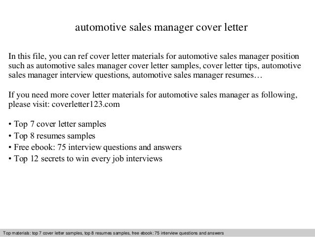 automotive sales manager cover letter in this file you can ref cover