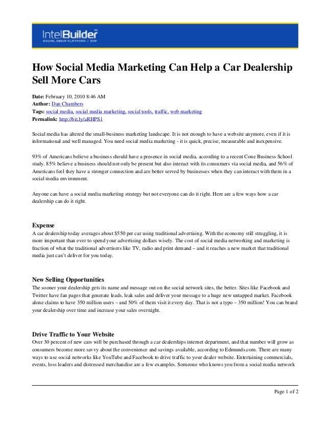 automotive social media marketing for dealers to sell more cars. Black Bedroom Furniture Sets. Home Design Ideas