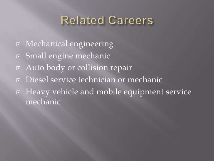 automotive mechanic research paper Useful example of a research paper about mechanics and its types online free sample research proposal on mechanics topics read also tips how to write a good college.