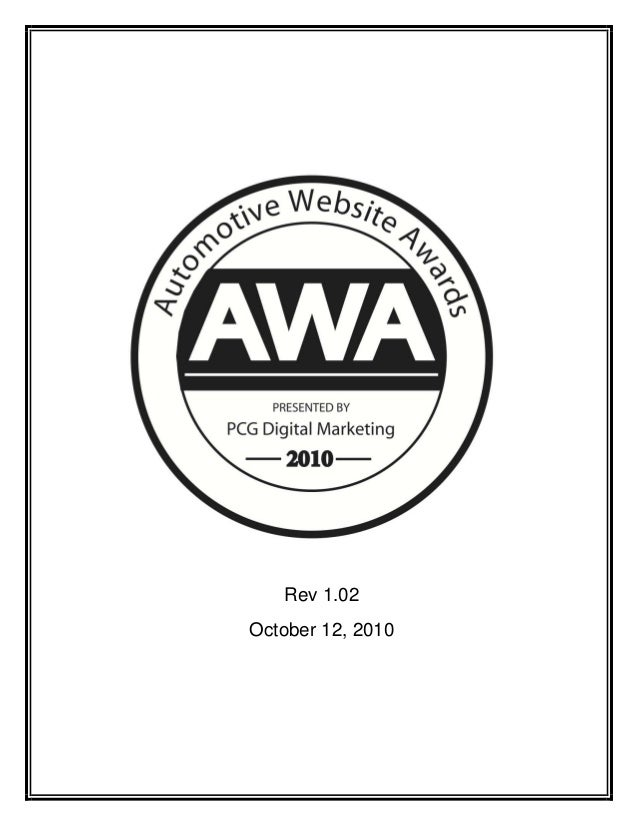 Automotive website awards 2010 whitepaper