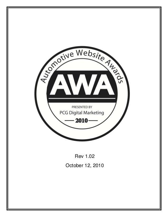 Automotive website awards 2010 whitepaper