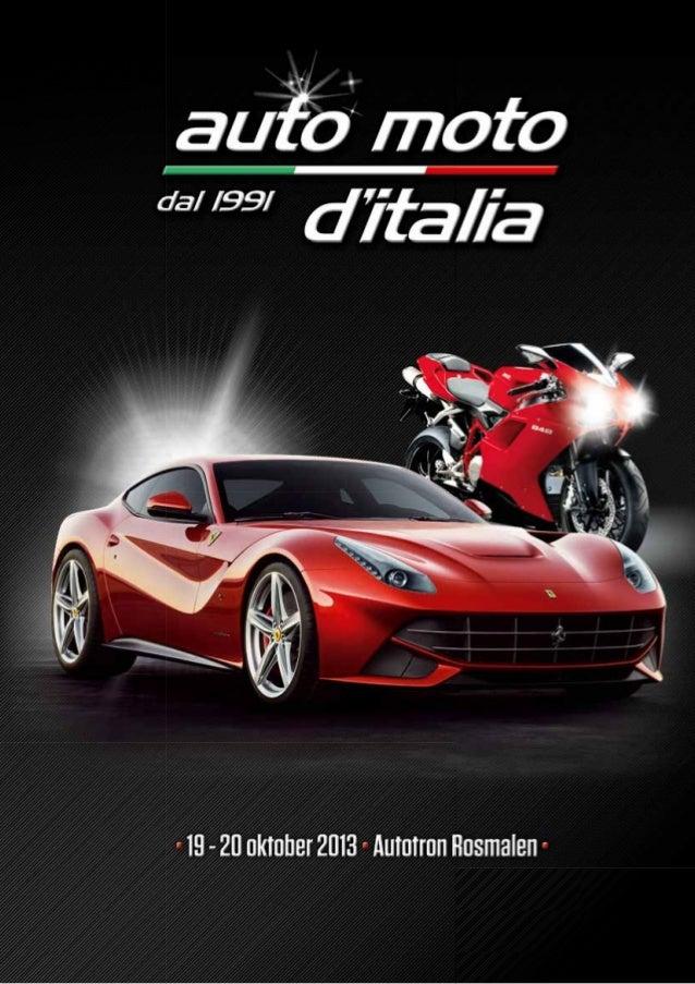 Auto Moto d'Italia laat werkelijk alle facetten van de Italiaanseauto- en motor industrie zien. Als afsluiting van het 'bu...