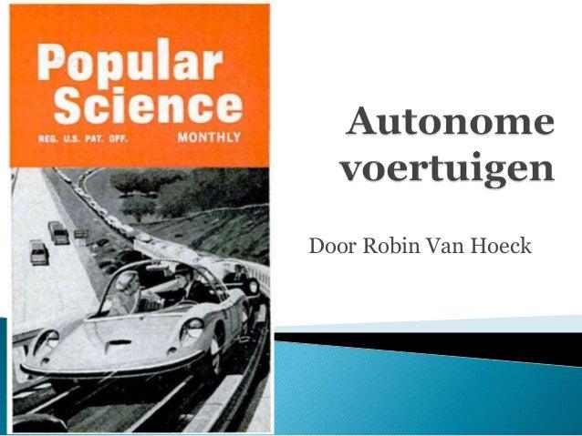 Door Robin Van Hoeck