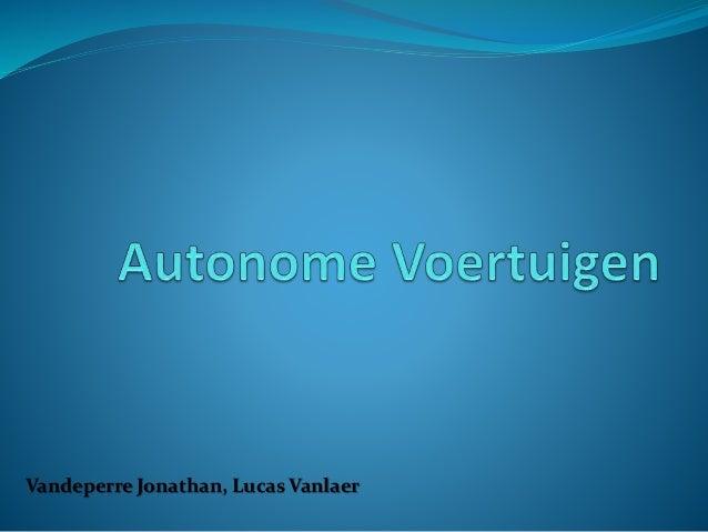 Vandeperre Jonathan, Lucas Vanlaer