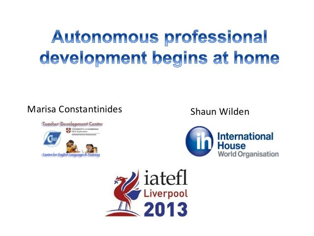 Autonomous professional development begins at home