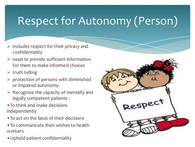 essays patient autonomy Free coursework on benevolent deception from essayukcom, the uk essays company for essay, dissertation and respect for patient autonomy is an important.