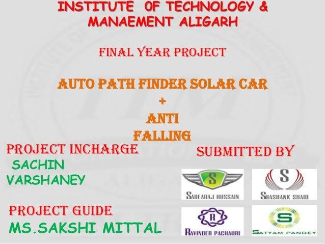 Auto path solar car