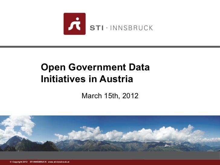 Open Government Data                           Initiatives in Austria                                                     ...