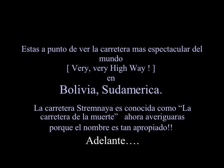 Autopistas en Bolivia