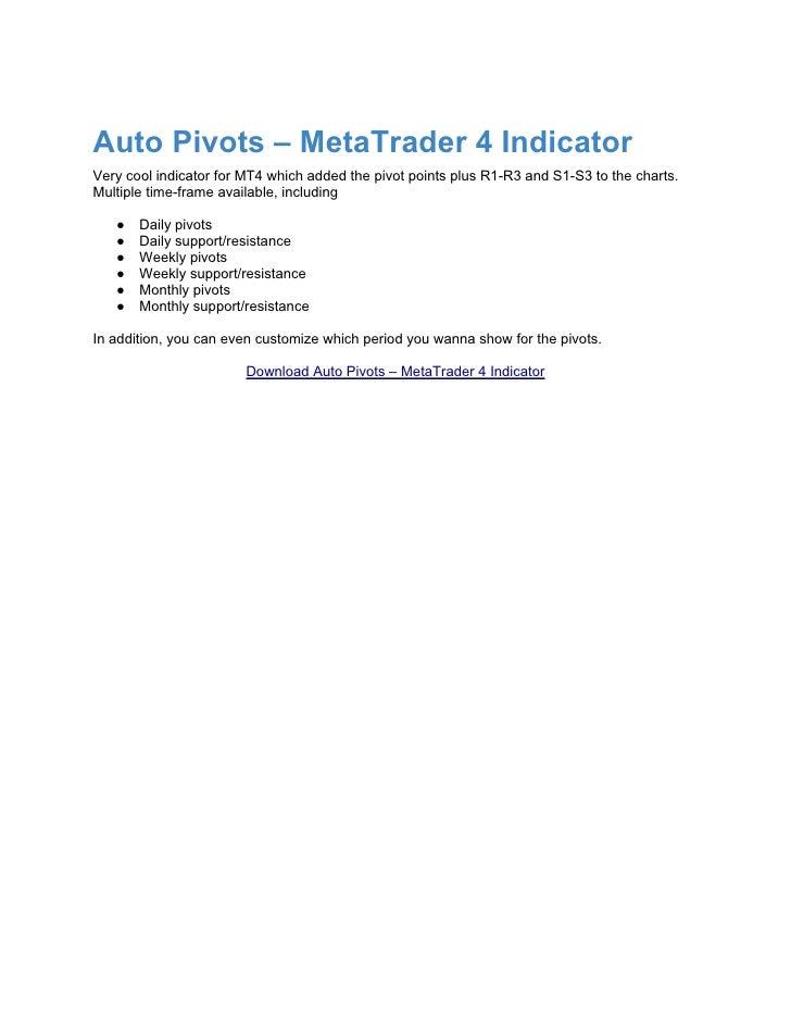 Forex auto pivot indicator