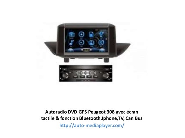 Autoradio DVD GPS Peugeot 308 avec écran tactile & fonction Bluetooth,Iphone,TV, Can Bus http://auto-mediaplayer.com/