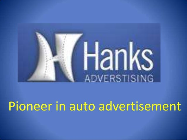 Pioneer in auto advertisement
